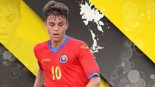 Vlad Mitrea, 16 anni, centrocampista romeno dell'Inter