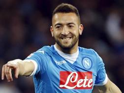 Omar El Kaddouri, 26 anni, centrocampista marocchino del Napoli. Reuters
