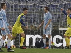 Il gol di Roberto Inglese, 25 anni, che ha deciso la partita. Ap