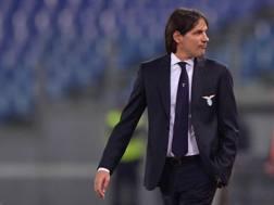 Il tecnico della Lazio Simone Inzaghi. LaPresse