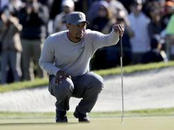 Tiger Woods, 41 anni, al torneo di inizio stagione a San Diego. Ap