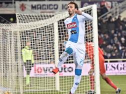 Manolo Gabbiadini, 25 anni, attaccante del Napoli. Getty Images