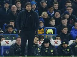 Il tecnico del Chelsea Antonio Conte. Reuters