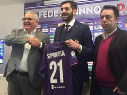 Il d.g. Corvino, Riccardo Saponara e il d.s. Freitas