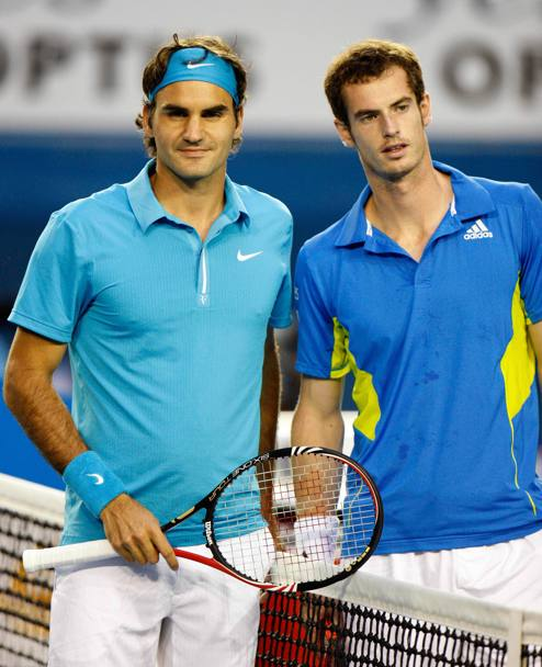Roger Federer con Andy Murray. (Liverani)