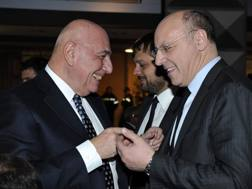 L'a.d. del Milan Adriano Galliani e l'a.d. della Juventus Beppe Marotta. LaPresse