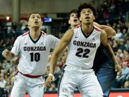 Gonzaga, ateneo di Spokane, WA, ha vinto 22 partite su 22. Afp