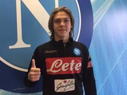 Alessio Zerbin, 17 anni, attaccante del Napoli Primavera. Twitter