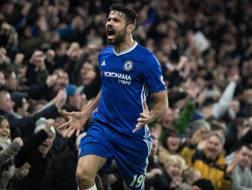 Il centravanti del Chelsea Diego Costa, 28 anni. Epa
