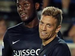 Kessié e Papu Gomez durante la stagione dell'Atalanta