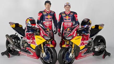 Hayden e Bradl sulla nuova Honda Fireblade SP2