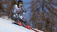 Sofia Goggia, in azione nel superG di Cortina. Ansa