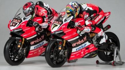 Le Ducati di Marco Melandri e Chaz Davies per il Mondiale SBK 2017