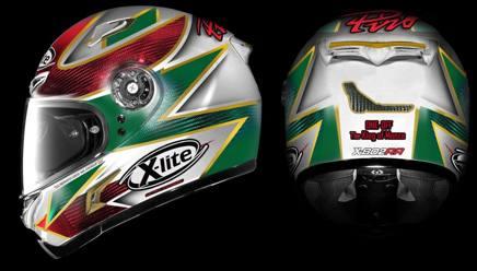 Il casco speciale dedicato a Fabrizio Pirovano