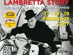 La locandina per i 70 anni della Lambretta