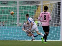 Il primo gol dell'Atalanta segnato da Conti. LaPresse