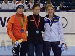 Il podio di Minsk dei 500 metri