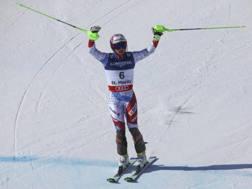 Luca Aerni ha vinto l'oro in combinata