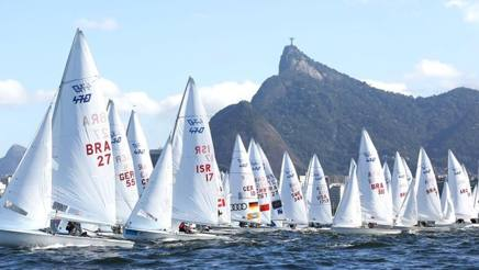 Una regata di 470 a Rio