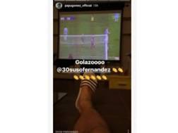 Il post su Instagram di Gomez dopo il gol di Suso alla Lazio