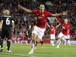 L'attaccante del Manchester United Zlatan Ibrahimović, 35 anni. Reuters