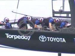 I kiwi pedalano in barca