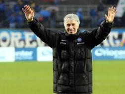 Il tecnico dell'Atalanta Gian Piero Gasperini. Ansa