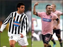 Fabrizio Miccoli prima ai tempi della Juve poi con la maglia del Palermo