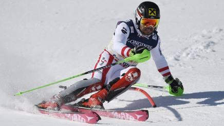Marcel Hirscher, 27 anni, a St. Moritz. Lapresse