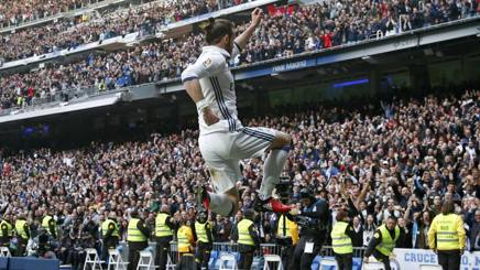 Gareth Bale felice al Bernabeu. Reuters