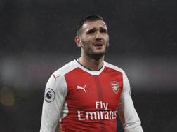 Lucas Perez, 28 anni, attaccante dell'Arsenal. Reuters
