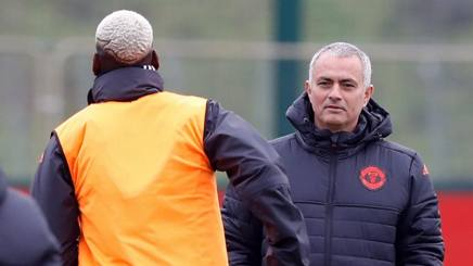 Paul Pogba e Josè Mourinho. LAPRESSE