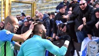 Gabigol festeggia il suo primo gol in nerazzurro. LaPresse