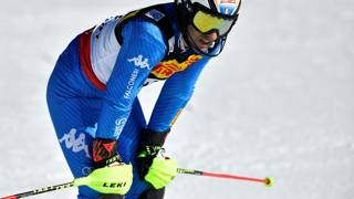 Stefano Gross , ieri il miglior azzurro in slalom. Afp