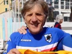 Enrico Nicolini (a sinistra) con la maglia della Sampdoria ai tempi del Verona