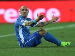 Massimo Maccarone a terra, l'Empoli fatica a rialzarsi. Getty