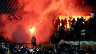 Un'immagine degli scontri del l'uno febbraio 2012 a Port Said. Epa