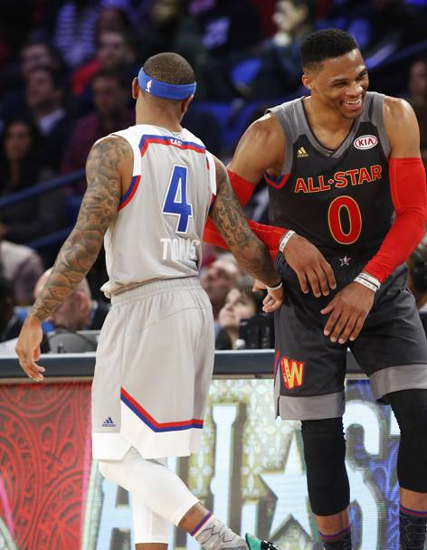 A sinistra Isaiah Thomas e a destra Russell Westbrook. (Ap)