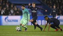 Verratti insegue Messi a Parigi. Afp