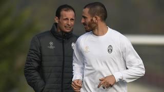 Da sinistra, Massimiliano Allegri, 49 anni, e Leonardo Bonucci, 29 anni. LaPresse