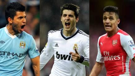Sergio Aguero, Alvaro Morata e Alexis Sanchez