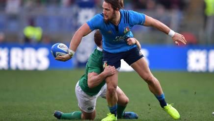Michele Campagnaro in azione contro l'Irlanda. LaPresse