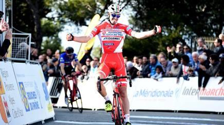 Mattia Cattaneo, 26 anni, bergamasco di Alzano Lombardo: prima vittoria da professionista. Foto Sirotti