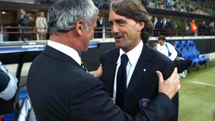 Claudio Ranieri e Roberto Mancini in un incrocio della Champions  2004: era Inter-Valencia. Omega