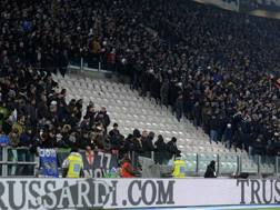 Il settore dello Juventus Stadium, solitamente occupato dai Vikings, vuoto in occasione di Juventus-Inter. Bozzani