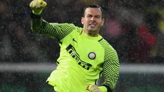 Il portiere dell'Inter Samir Handanovič, 32 anni. Getty