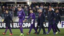 Fiorentina a testa bassa dopo l'eliminazione dall'Europa League. LaPresse