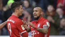 Vidal e Lewandowski, entrambi a segno. Ap