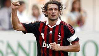 Paolo Maldini è stato un calciatore del Milan dal 1984 fino al momento del  ritiro nel 2009. Reuters