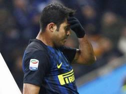 Éder Citadin Martins, 30 anni, attaccante dell'Inter, si dispera per un'occasione sfumata. LaPresse